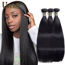 Uneed cabelo peruano pacotes de cabelo reto 100% extensões do cabelo humano trama dupla remy tecer cabelo 1 pacote pode comprar 3 ou 4 pacotes