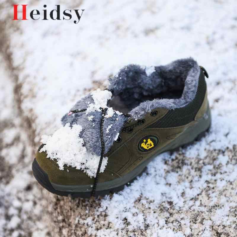 Zapatos de invierno de marca para hombre de gran tamaño 38-49 botas de hombre súper cálidas zapatillas de tobillo de felpa antideslizantes botas de nieve para hombre calzado