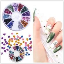 Стразы смешанных цветов для ногтей, Блестящие Необычные Бусины для маникюра, ногтевого дизайна, 3D украшение, камень в колесиках, DIY аксессуары, советы