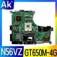 ASUS N56VB N56VM N56VZ N56VJ N56V 테스트 원래 메인 보드 GT650M-4G에 대한 AK N56VZ 노트북 마더 보드
