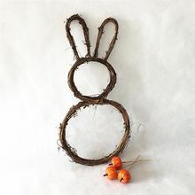 Decoration Garland-Base Easter-Ornament Desktop-Decor Rabbit for Hand-Woven