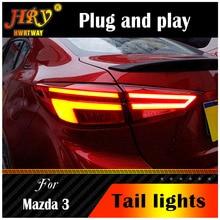 Estilo do carro lâmpada de cauda para mazda 3 axela led luz da cauda 2014 2019 mazda3 drl sinal dinâmico freio reverso acessórios automóveis