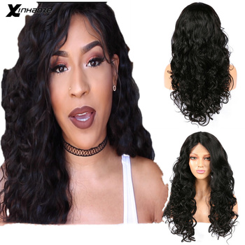 XINHAOZE Beauty Brazilian Lace Front 13x4 remy Human Hair Natural Color Body Wave Pre Plucked For Women