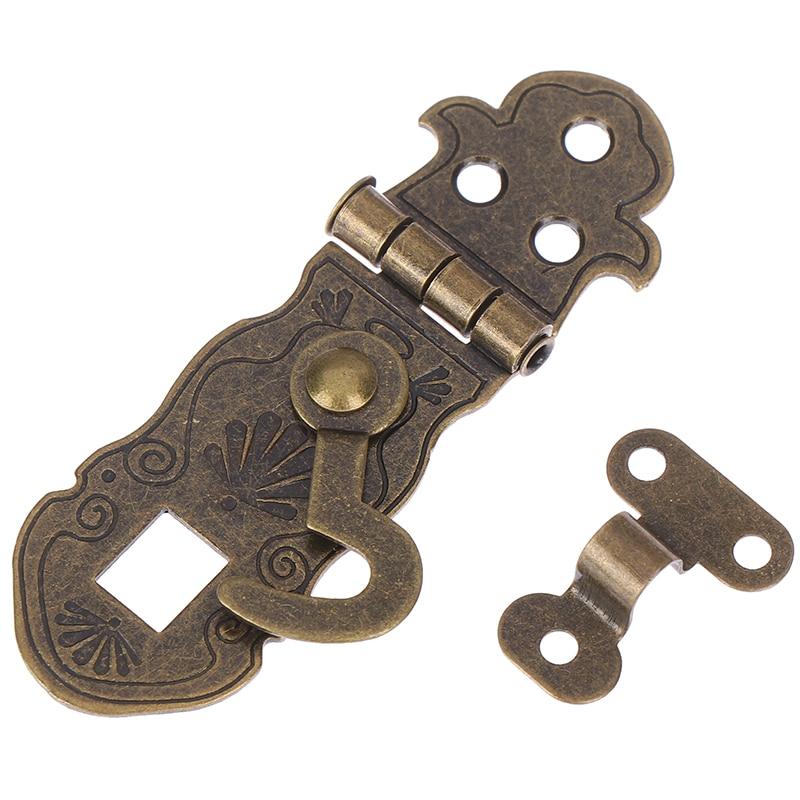 Antique Notebook Lock Metal Buckle Package Box Hinge Lock Fastener Hinge Lock