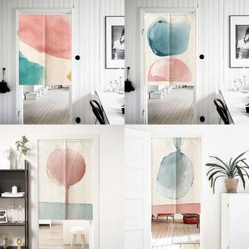 Styl skandynawski zasłona do drzwi ekrany pyłoszczelna zasłona drzwiowa partycja zasłonki kuchenne trwała dekoracja sypialni ekrany tanie i dobre opinie DREAM HOUSE DOOR Drzwi i okna ekrany JS0709 Other