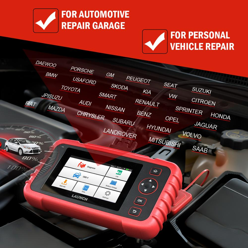 Image 2 - Launch X431 CRP123X Diagnostic Tool Auto Code Reader EOBD OBD2 Scanner Engine Transmission ABS SRS AutoVIN WIFI PK CRP123 VII+-in Engine Analyzer from Automobiles & Motorcycles