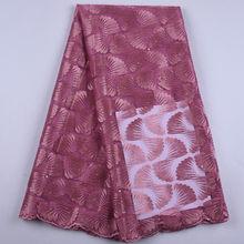 HaoLin-tissu africain en dentelle en Tulle, tissu africain en dentelle nigériane, de haute qualité, pour femmes, robe de fête de mariage