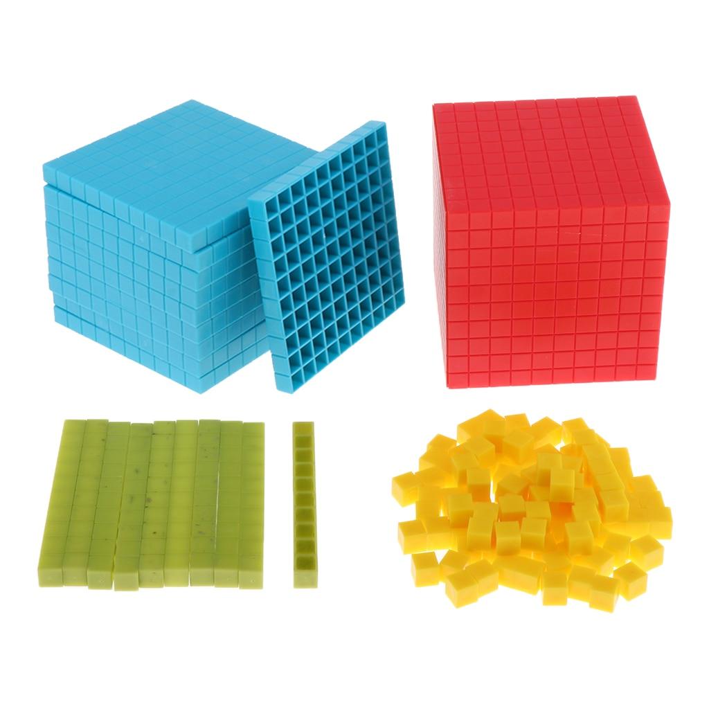 121x montessori matemática cubo decimal criança pré-escolar brinquedos educativos 10cm