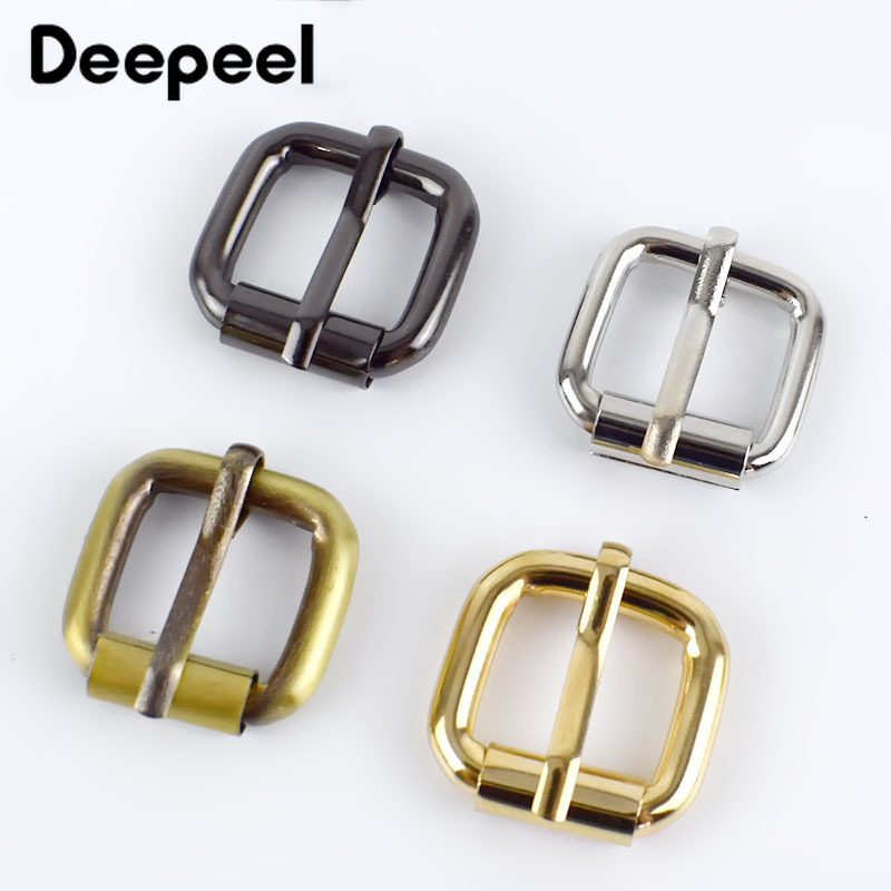 5/10/20pcs 16mm Metal Buckle For Bag Belt Strap Web Adjust Roller Pin Buckle Snap Rectangle Leather Craft Repair DIY Accessories