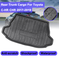 Для Toyota C-HR CHR 2017 2018 2019 + коврик для багажника  задний багажник  поднос для грузового пола  ковровая грязевая накладка  защита от ударов  водоне...