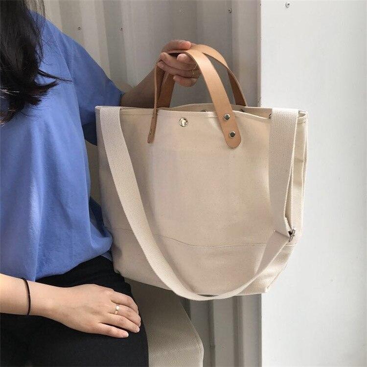 Canvas Bag Women's Single Shoulder Messenger Bag Wenyi Mori Korean Canvas Bag Large Capacity Student Portable Japanese