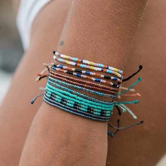 браслет с проекцией телефона vsco girls seed bead bracelet beach summer bohemian waterproof friendship bracelets women femme