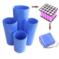 RDD 2M PVC Heat Shrink Tube Blue Shrinkable Cable Sleeve For 18650 Lithium Battery Pack Insulating Sleeve Shrink Tube Many Sizes