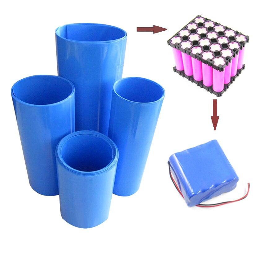 RDD 2M PVC Schrumpf Schlauch Blau Schrumpf Kabel Hülse Für 18650 Lithium-Batterie Pack Isolierende Hülse Schrumpfen Rohr viele Größen