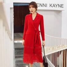 Yigelila модное высококачественное красное платье с отложным