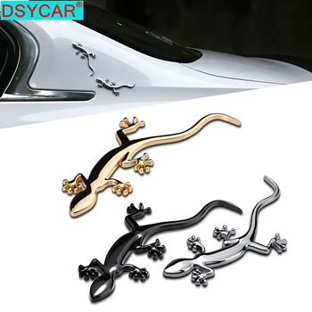 DSYCAR 1Pcs 3D Metal Gecko Car Side Fender Rear Trunk Emblem Badge Sticker Decals for JEEP BMW Nissan Audi VW Ford Honda Car New car styling racing sticker body waist car stickers door side scratches decorative decals for ford vw bmw toyota audi honda mazda