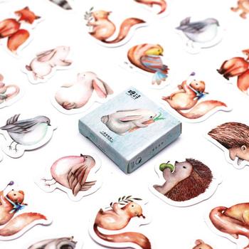 40 sztuk opakowanie zwierzęta leśne zabawki naklejki na samochód stylizacja rower telefon motocyklowy Laptop bagaż podróżny fajne śmieszne naklejki naklejki tanie i dobre opinie JP (pochodzenie)