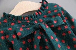 Image 3 - בנות בגדים סטי בגדי ילדי סתיו אופנה סגנון בנות שמלה + סוודר אפוד 2Pcs חליפת תינוק ילדים בגדים עם גדול קשת 0 4Y