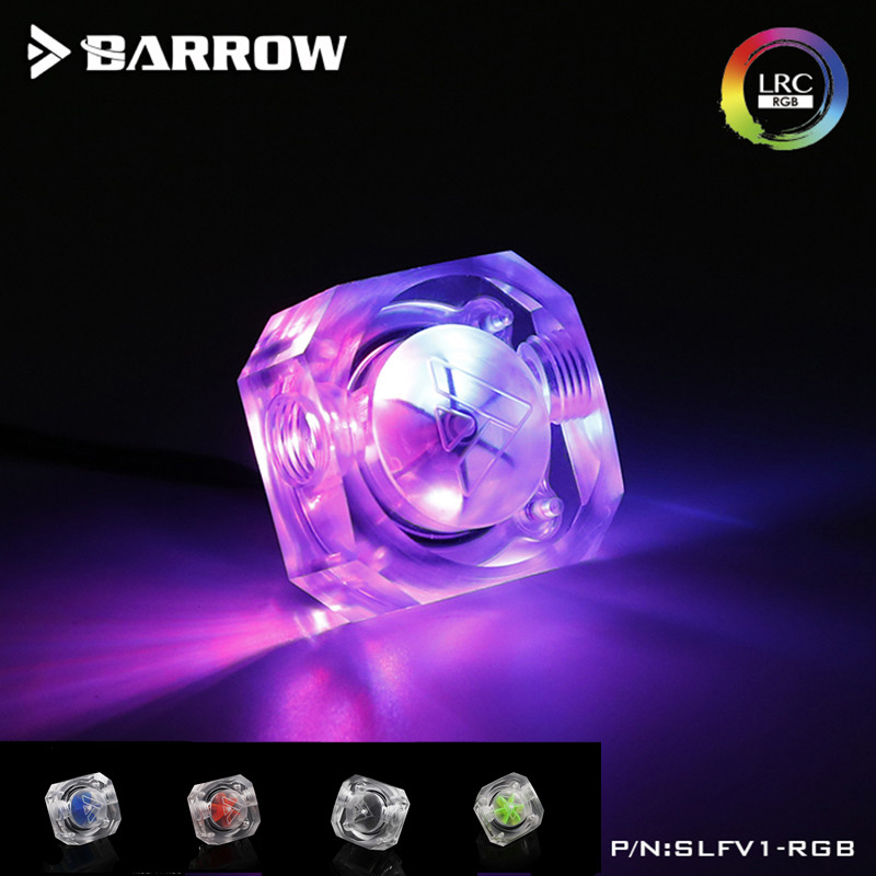 Barrow New Aurora 5V 3Pin Flow Indicator  Lighting System Multiple Blade Colors For LRC2.0 Water Cooling System SLFV1-RGB