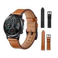 Echt Lederen Horloge Band Strap Voor Honor Magic 2 46Mm Vervanging Band Voor Huawei Horloge Gt 2 46Mm polsband Nieuwe Accessoires