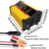6000W Dual USB Smart Display Car Power Inverter Converter Adapter 12V to 220V/110V Voltage Transformer Modified Sine Wave|Car Inverters| |  -