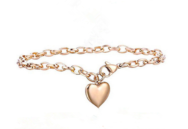 Love Heart Chain Bracelets  3