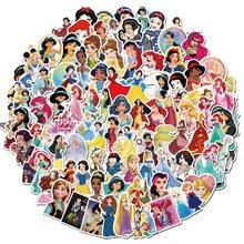 Autocollants princesse Runaway, 50 pièces, dessin animé, style de voiture, moto, téléphone portable, bagages de voyage, Cool, drôle, décalcomanies JDM