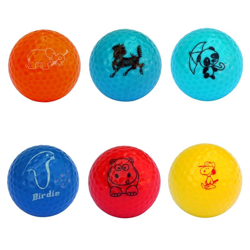 TTYGJ Golf Ball Snoopy/hippo/bird Colorful Cute Cartoon Animal Pattern 80-90 Color Double Layer (Long Distance) Practice Ball