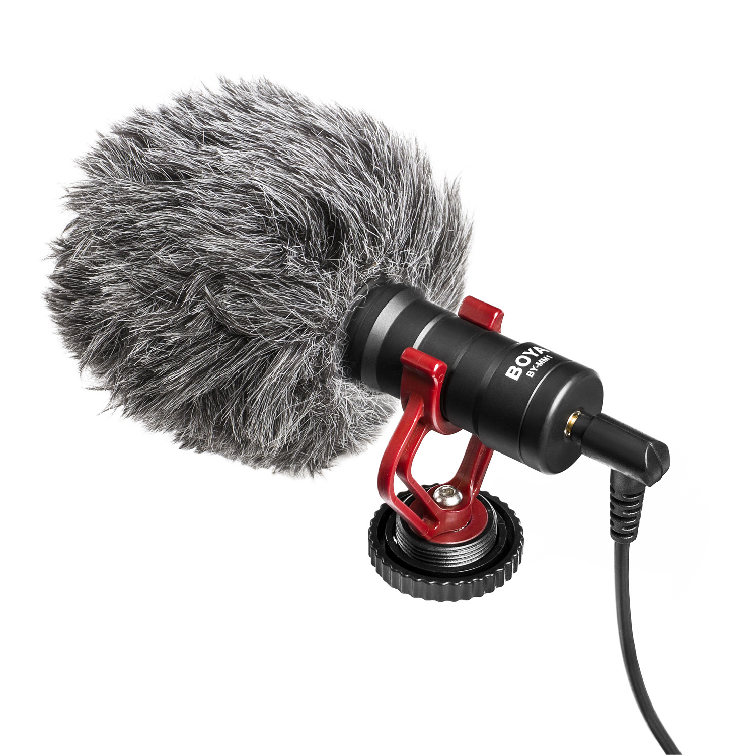 BOYA BY-MM1+ Super Cardioid Shotgun Microphone 3.5mm Headphone TRS TRRS Output For Smartphone Tablets DSLR Consumer Camcorder PC