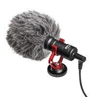 BOYA BY MM1 Microphone On Camera Video Recording Mic Microfone for Xiaomi DJI Osmo Pocket DSLR Camera Sony iPhone