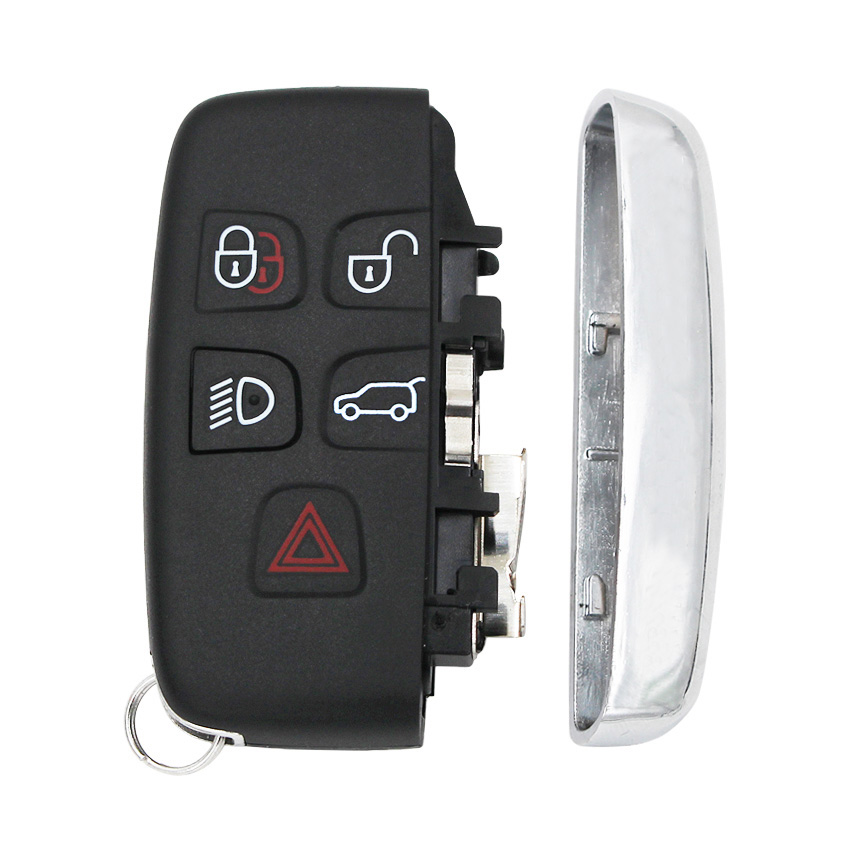 Image 5 - 5 Button Remote Key Shell Case Smart Car Key Housing Cover Fob with Words for Land Rover LR4 for Range Rover Sport Evoque-in Key Shell from Automobiles & Motorcycles
