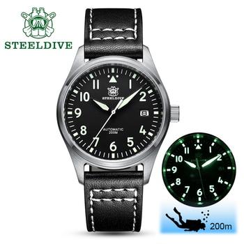 2020 New Men Pilot watch Automatic Watches NH35A 20 Bar Sapphire Crystal Mechanical Pilot Watch stainless steel Diving Watch Hot худи print bar panda pilot