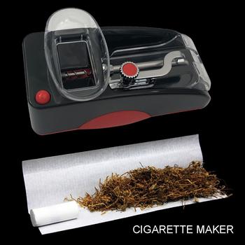 Ręczna maszynka do papierosów ze stali nierdzewnej ręczna rolka do papierosów Tabletop nabijarka do tytoniu do 100s King standardowy rozmiar tanie i dobre opinie CN (pochodzenie) STAINLESS STEEL Lakier Smoke-rolling