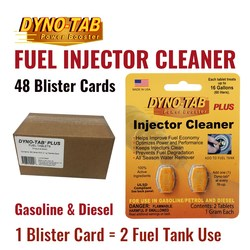 Dyno Tab Of the Fuel Injector Cleaner Petrol Gasoline & Diesel Fuel Economy Saver Carbon Cleaner (48 Blister Cards)