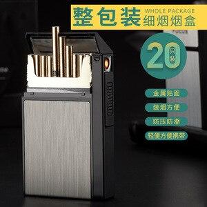 Ms. FOCUS fine cigarette case 20pcs personalized interchangeable tungsten lighter cigarette case fine cigarette case