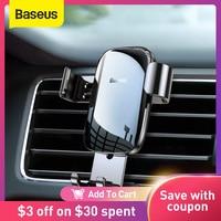Baseus-Soporte de teléfono para coche, base de Metal para la rejilla de ventilación, Universal, para iPhone y Xiaomi