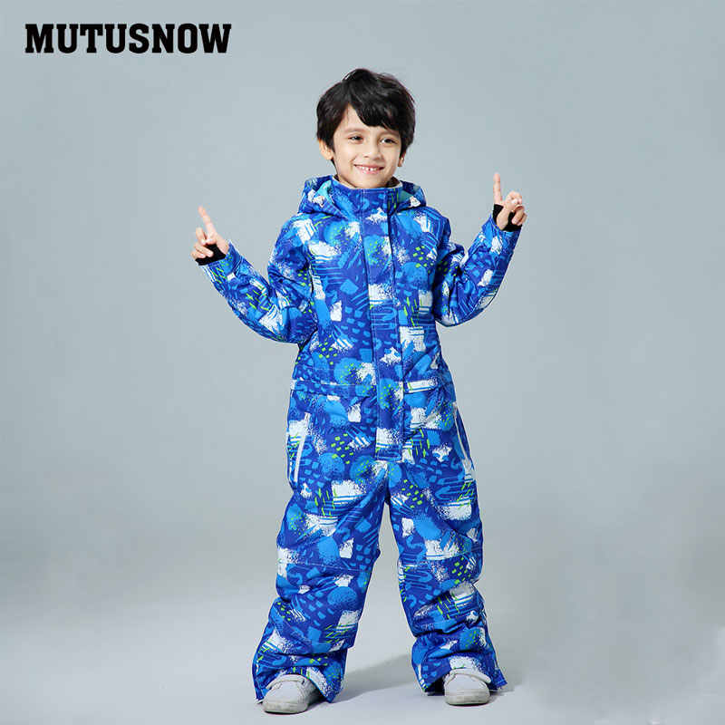 2019 Ski Suit Boy's Baby Hot Sale Brand Waterproof Set Winter Sports Thicken Snowboarding Clothes Children's Ski Suit -30 degree