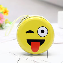 MAISON FABRE 2019 Hot Sale Wallets Mini Coin Cute Expression Elements Round Headset Purse Wallet Pouch Bag Dropshipping #76(China)