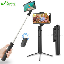 Roreta Baru 3 In1 Nirkabel Bluetooth Selfie Stick Handheld Monopod dengan Tombol Portable Mini Tripod untuk Iphone Samsung Huawei(China)