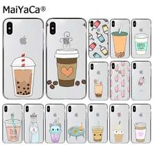 MaiYaCa Summer Pearl Milk Tea Peach Phone Case Cover Shell for iPhone 11 pro XS MAX 8 7 6 6S Plus X 5 5S SE XR cover(China)