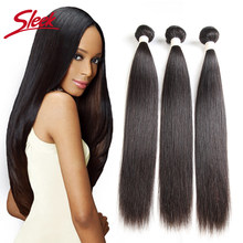 Sleek Peruvian Straight Hair Weave Bundles 8 To 30 Inches Natural Color Hair Extension Remy Human Hair Bundles Free Shipping(China)