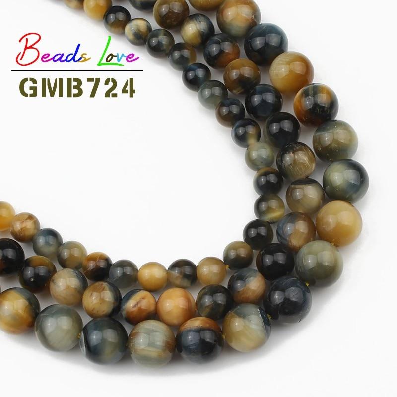 "4-10mm Natural Gemstone Tiger/'s Eye Round loose beads 15 /"" AAA"