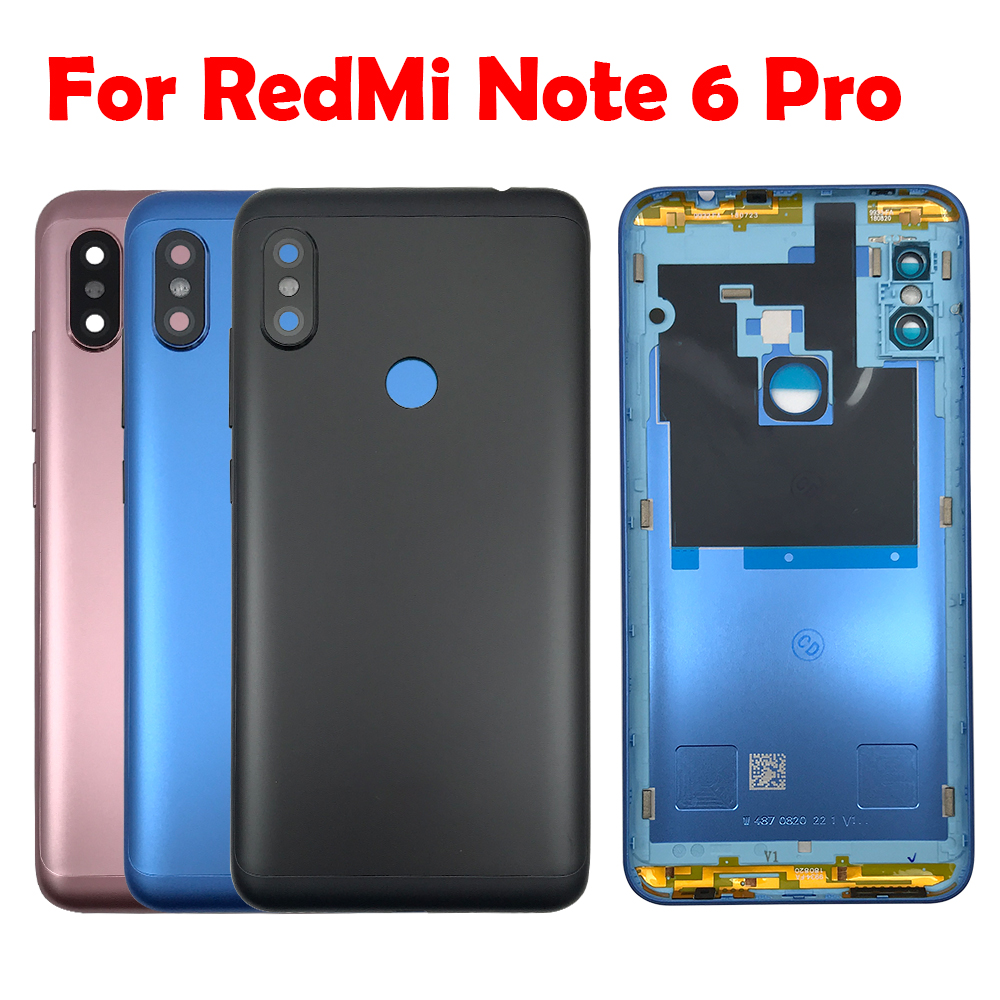 Battery <font><b>Back</b></font> <font><b>Cover</b></font> For <font><b>Xiaomi</b></font> <font><b>Redmi</b></font> <font><b>Note</b></font> <font><b>4X</b></font> 5 6 Note5 Note6 Pro <font><b>Back</b></font> Battery Door Rear Housing <font><b>Cover</b></font> With Volume Side Button Key image