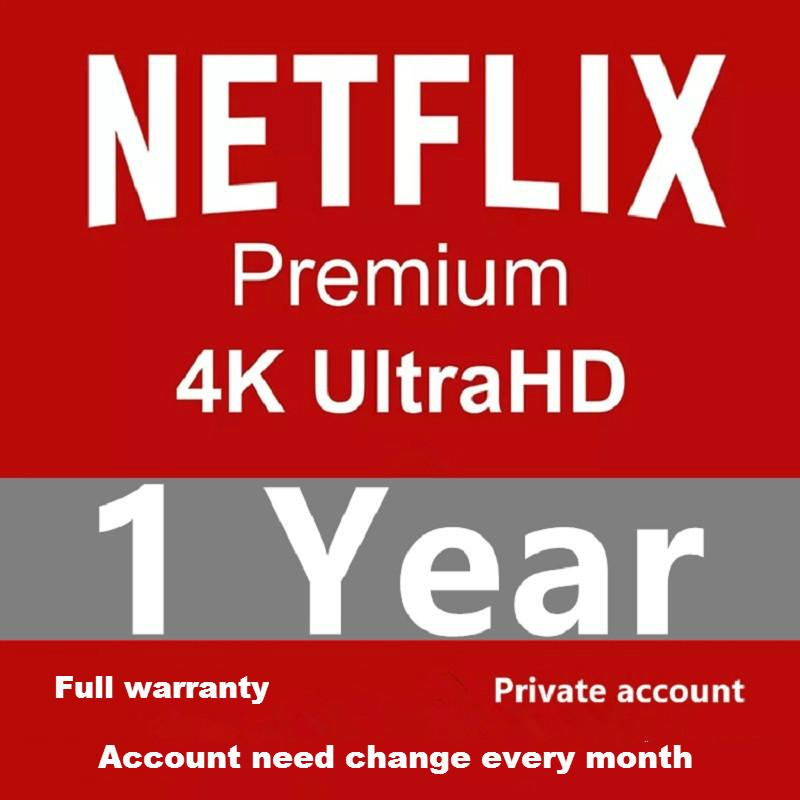 1 Year Warranty NETFLIX 4K Premium Netflix Profile Works On PCs Smart TVs Set Top Boxes Android IOS Phone