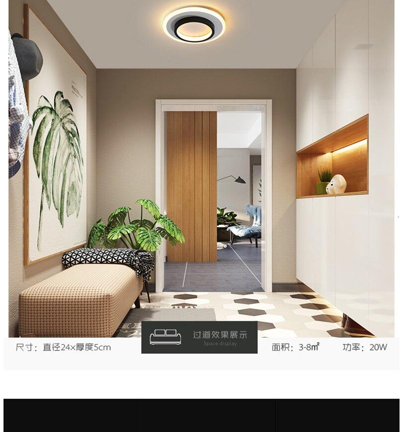 H3b4a8ea9f30e478eadf62d3bca3e8e1e5 LICAN Modern LED Ceiling Lights for bedroom bedside Aisle corridor balcony Entrance Modern LED Ceiling Lamp for home