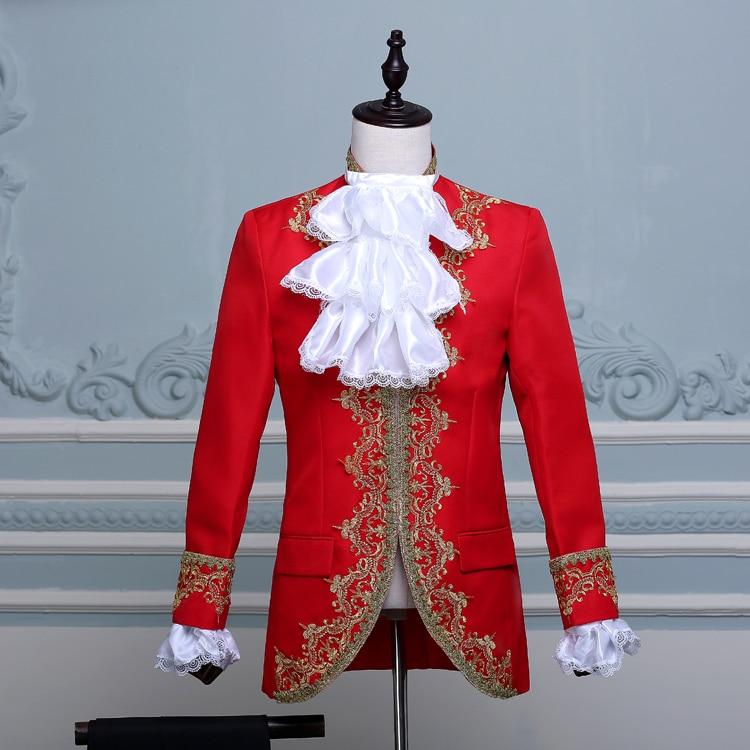Médiéval roi prince Cosplay manteau gilet pantalon costume Set Hommes Halloween Party Costume
