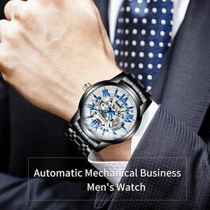 Image 5 - Lavaredo, reloj mecánico automático de lujo para hombre, reloj de pulsera de acero inoxidable de negocios de primera marca A5