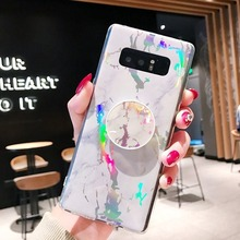Glossy Marble Phone Case for Samsung Galaxy Note10 Note 8 9 S10e S10 S9 S8 Plus S7 Edge Cover Soft IMD Laser Colorful