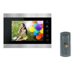 ANPWOO 7 Inch Color LCD Video Door Phone Intercom System Door Release Unlock Color Doorbell Camera 600TVL Night Vision