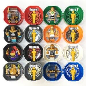 Image 5 - 8 ミニフィギュアパックセット sy ninjagoes 会ジェイにゃ剣道トレーニング忍者ポッドセット教育ビルディングブロックのおもちゃキッズギフト